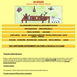 scienze per bambini delle scuole elementari