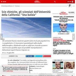 """Scie chimiche, gli scienziati dell'Università della California: """"Una bufala"""""""