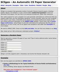 SCIgen - An Automatic CS Paper Generator