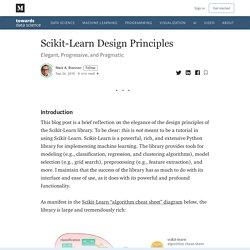 Scikit-Learn Design Principles
