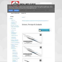 Scissor, Forceps & Scalpels - Jindal Medi Surge