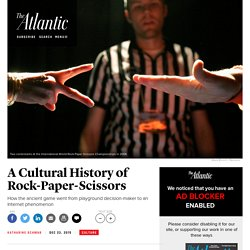 How Rock-Paper-Scissors Went Viral and Became a Competitive Sport