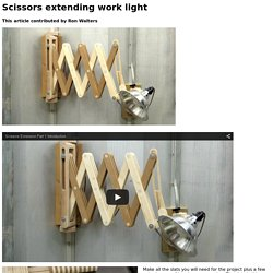 Scissors extending work light