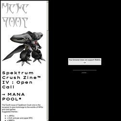 SCIV - MANA POOL - OPEN CALL