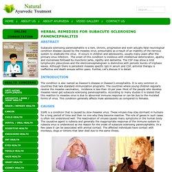Herbal Remedies for Subacute Sclerosing Panencephalitis