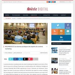 #SCMW2015 Les bonnes pratiques des experts du content marketing