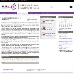 CPE & Vie Scolaire Académie de Rouen - Un exemple de formation de délégués