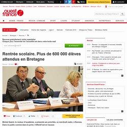 Rentrée scolaire. Plus de 600000 élèves attendus en Bretagne