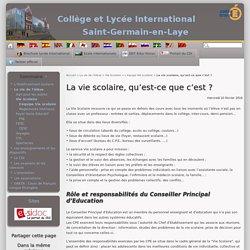 La vie scolaire, qu'est-ce que c'est ? - Collège et lycée international de Saint-Germain-en-Laye