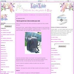 Tuto du grand sac à dos scolaire pour ado - Couture et Créations de Kajin'Kisaï
