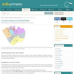 La carte scolaire en école primaire - EcolesPrimaires.fr