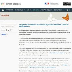 Climat scolaire -Le cyber-harcèlement au cœur de la journée nationale « Non au harcèlement »