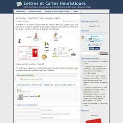 """» Mind map """"check list"""" pour voyage scolaire - Lettres et Cartes Heuristiques"""