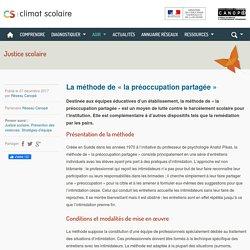 Climat scolaire - La méthode de « la préoccupation partagée » / Réseau Canopée, mars 2020