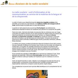 La radio scolaire : un projet pédagogique