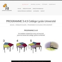 Chaise scolaire collège lycée université programme 3.4.5