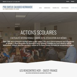 Actions Scolaires – Prix Bayeux Calvados-Normandie