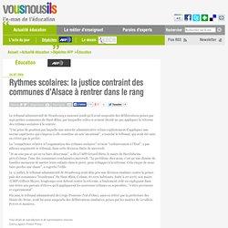 Rythmes scolaires: la justice contraint des communes d'Alsace à rentrer dans le rang