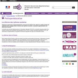 La réforme des rythmes scolaires - Direction des services départementaux de l'éducation nationale du Doubs