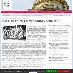 LES LOIS SCOLAIRES DE JULES FERRY