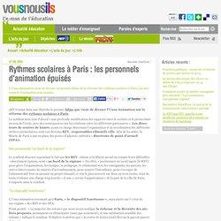 Rythmes scolaires à Paris : les personnels d'animation épuisés