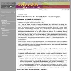 Diversité - Accueil et scolarisation des élèves allophones à l'école française