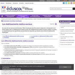 Scolarisation des élèves handicapés - Les établissements médico-sociaux