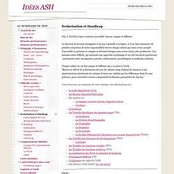 Scolarisation et Handicap - Idées ASH