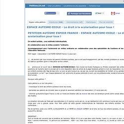 ESPACE AUTISME-ECOLE - Le droit à la scolarisation pour tous !