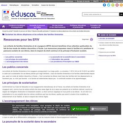 Scolariser les élèves allophones et les enfants des familles itinérantes - Ressources pour les EFIV