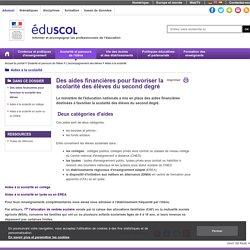 Aides à la scolarité - Des aides financières pour favoriser la scolarité des élèves
