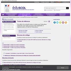 Aides à la scolarité - Textes de référence