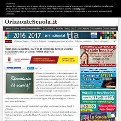 Inizio anno scolastico. Dal 5 al 15 settembre tutti gli studenti italiani rientrano in classe: le date regionali