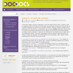 Scoop.it, un outil de curation