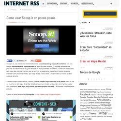 Como usar Scoop.it en pocos pasos - internetrss