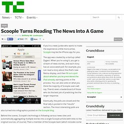 Scoople Turns Reading The News Into A Game