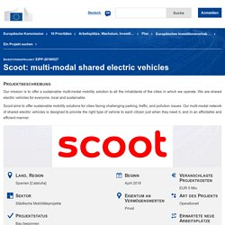 Scoot: multi-modal shared electric vehicles