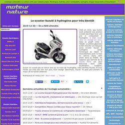 Le scooter Suzuki à hydrogène pour très bientôt