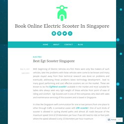 Best Egt Scooter Singapore