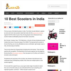 10 Best Scooters in India 2017 - Top Scooty List with Price - LuckyJi