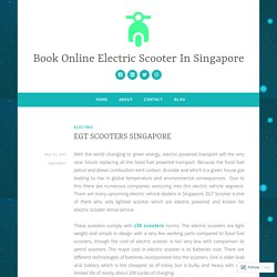 EGT SCOOTERS SINGAPORE