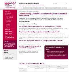 Les spécificités du statut SCOP