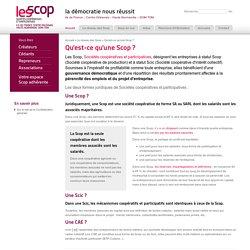 Qu'est-ce qu'une Scop ?