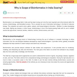 Why is Scope of Bioinformatics in India Soaring?