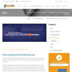 What is the Scope of Content Writing in India [6 Things to Note]