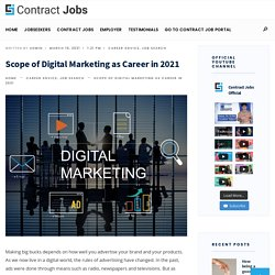 Scope of Digital Marketing as Career in 2021