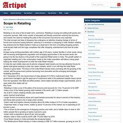 Scope in Retailing