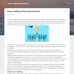 Scope of Staffing in Future to grow business!!!