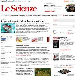 Scoperto il segreto della tolleranza batterica