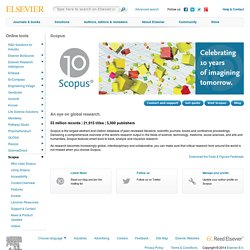 Welcome to the Scopus Support Site